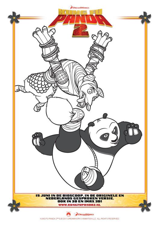 Dibujo para colorear Kung Fu Panda 2 - Img 22401