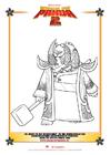 Dibujo para colorear Kung Fu Panda 2
