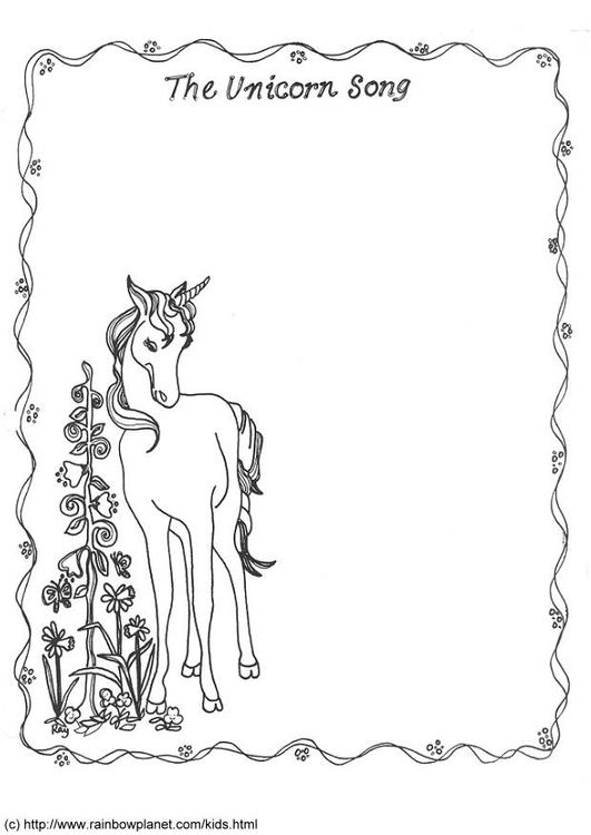 Dibujo para colorear La canción del unicornio - Img 6064