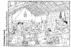 Dibujo para colorear La cocina medieval