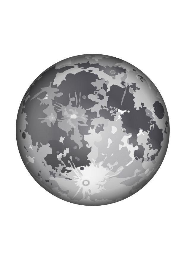 Dibujo para colorear La luna  Img 10341