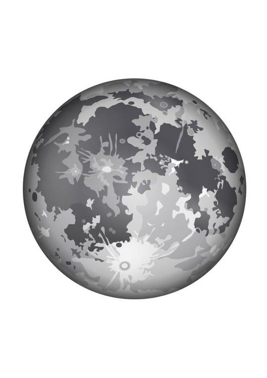 Dibujo Para Colorear La Luna Dibujos Para Imprimir Gratis