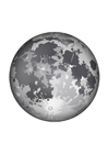 Dibujo para colorear La luna