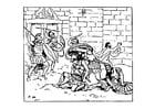 Dibujo para colorear La muerte de Aquiles