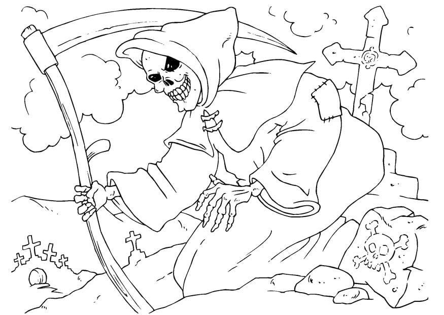 Dibujo Para Colorear La Muerte Img 22994