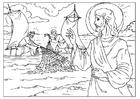 Dibujo para colorear la pesca milagrosa