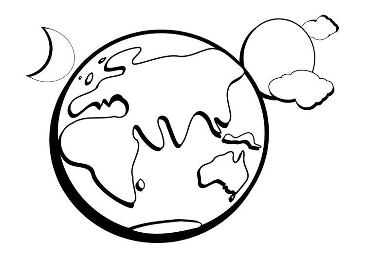 Dibujo para colorear La tierra - Img 10253