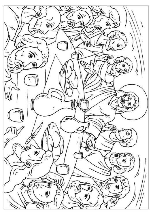 Dibujo Para Colorear La última Cena Img 25923
