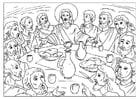 Dibujo para colorear la última cena