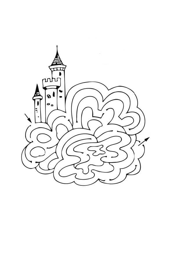 Dibujo Para Colorear Laberinto De Castillo Img 12521