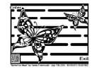Dibujo para colorear laberinto - mariposa