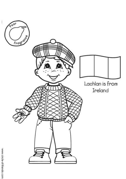 Dibujo para colorear Lachlan de Irlanda - Img 5631