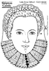 Dibujo para colorear Lady Anne Clifford - Máscara