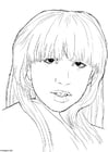 Dibujo para colorear Lady Gaga