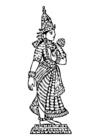 Dibujo para colorear Lakshmi
