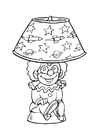 Dibujo para colorear Lámpara