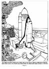 Dibujo para colorear Lanzamiento de nave espacial