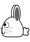 Dibujo para colorear lateral de conejo