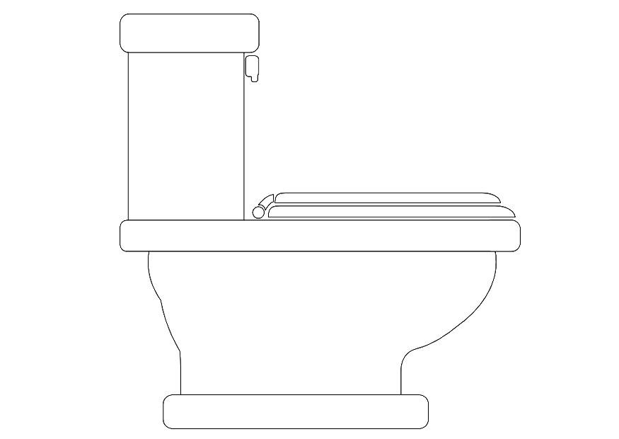 Dibujo para colorear lavabo img 10091 - Foto de toilette ...