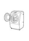 Dibujo para colorear lavadora