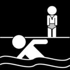 Dibujo para colorear Lección de natación