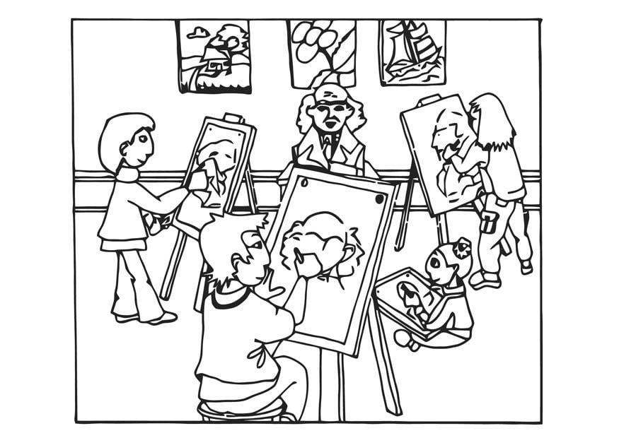 Dibujo Para Colorear Lecciones De Pintura