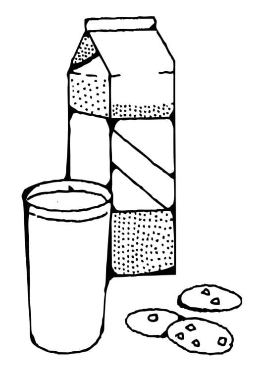 Dibujo para colorear leche - Img 17372