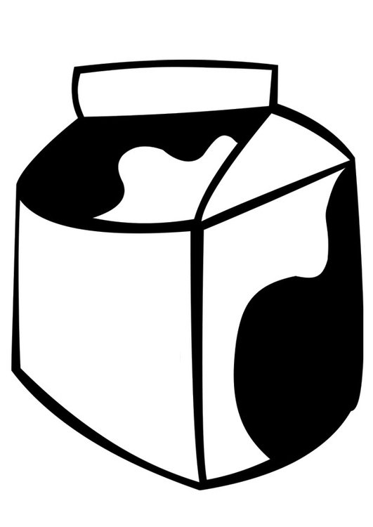 Dibujo para colorear leche - Img 22368