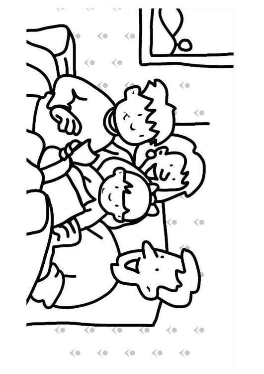 Dibujo Para Colorear Leer Familia Img 7307 Images