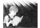 Dibujo para colorear Leer libros