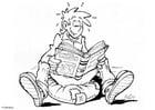 Dibujo para colorear Leer un libro