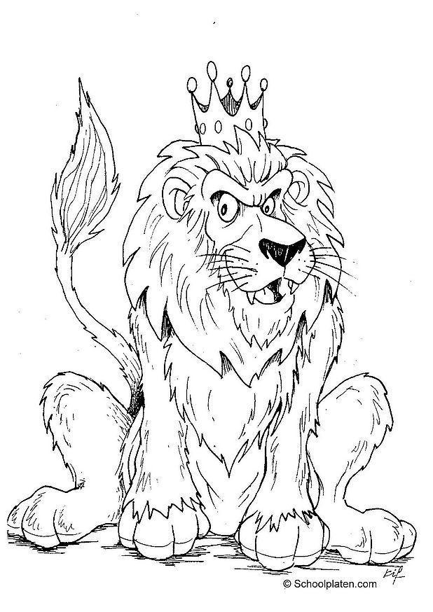 Colour Line Art Design : Dibujo para colorear león img