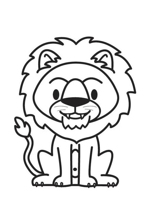 Dibujo para colorear león - Img 17808