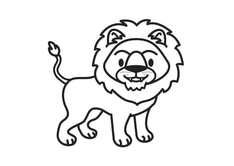 Dibujo para colorear león - Img 17902