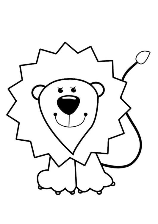Dibujo para colorear león - Img 29422