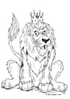 Dibujo para colorear León