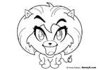 Dibujo para colorear leona