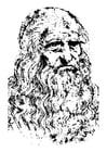 Dibujo para colorear Leonardo da Vinci