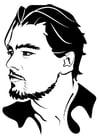 Dibujo para colorear Leonardo Di Caprio