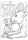 Dibujo para colorear Leones en parque natural