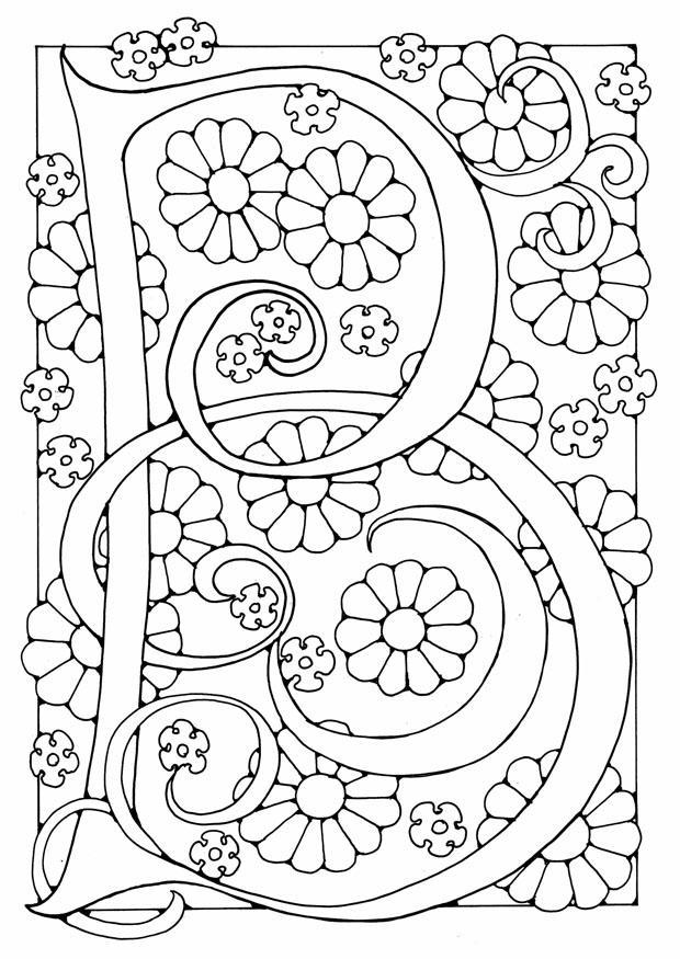 Dibujo Para Colorear Letra B Img 21887
