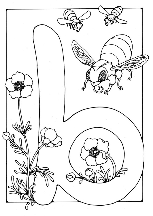 Dibujo Para Colorear Letra B Dibujos Para Imprimir Gratis