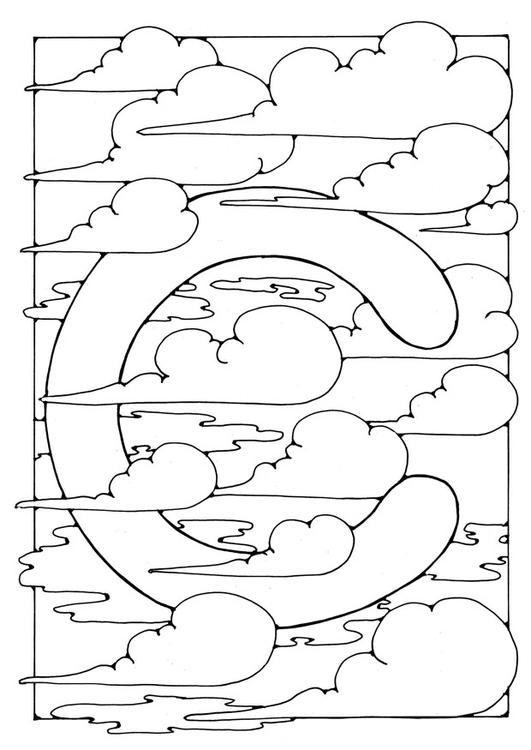 Dibujo Para Colorear Letra C Dibujos Para Imprimir Gratis