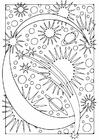 Dibujo para colorear letra - c