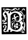 Dibujo para colorear letra decorativa - b