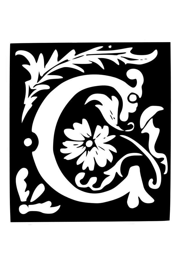 P Kleurplaat Dibujo Para Colorear Letra Decorativa C Img 19039