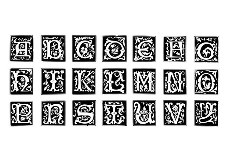 Dibujo Para Colorear Letras Decorativas Img 19024