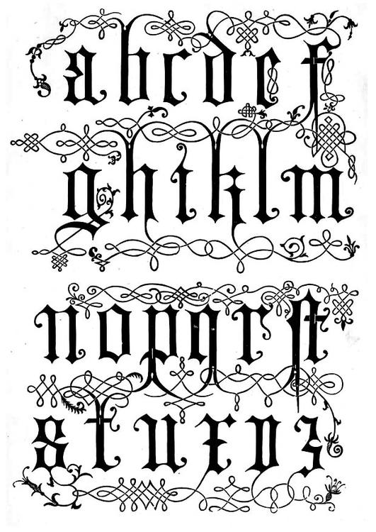 Dibujo Para Colorear Letras Del Siglo Xvi Img 11207