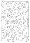 Dibujo para colorear letras