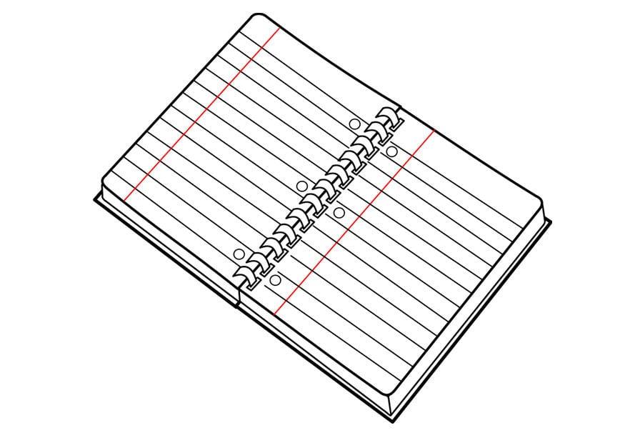 Dibujos Para Colorear De Libro Y Libreta: Dibujo Para Colorear Libreta